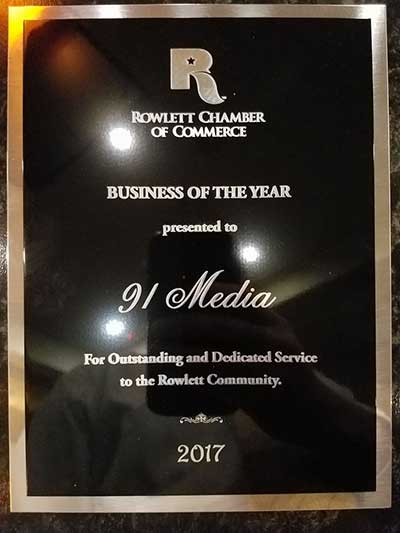 Rowlett Chamber of Commerce Small Business of the Year